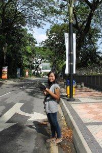 Rindangnya jalan di Taman Tasik Perdana